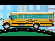 School Buses Teaching Colors - Learning Colours Video for Kids - YouTube