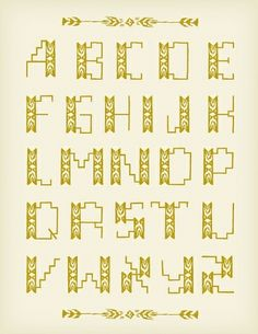 Mary Kate McDevitt. ornamental typeface