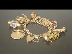 Charm bracelet; beautiful, unusual and intricate charms. Love it.