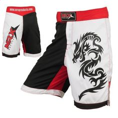 "Mrx MMA Fight Shorts Stretch Penals Blk/Rd/Wht (Black/Red/White, XX-Large (36.5""- 37.5"")) by MRX. $24.99. MMA Shorts / Grappling Shorts Made of 100% Micro Fabric stretch Panels constructed shorts feature a large Dragon Snake printed on the left leg and MRX Logo on the right leg. Split out seams allow more kicking freedom while the black-trimmed waistband with Woven MRX logo on the front, has hook/loop closure plus an internal drawstring to reduce shifting. Multi..."