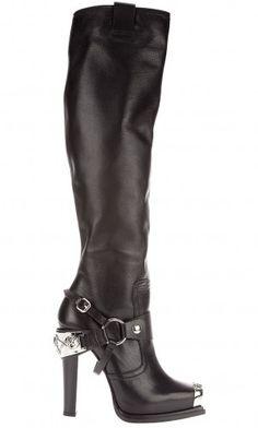 Gianmarco Lorenzi black leather boots                                                                                                                                                                                 More