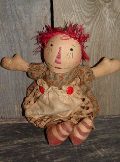 A sweet primitive Raggedy Ann