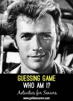 Guessing Game - Who Am I?: This is a wonderful reminiscing activity in a group setting. Guess the names of these famous people from the clues provided. Assisted Living Activities, Nursing Home Activities, Team Building Activities, Games For Elderly, Elderly Activities, Craft Activities, Trivia For Seniors, Physical Education Games, Health Education