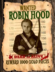 Image result for robin hood wanted poster