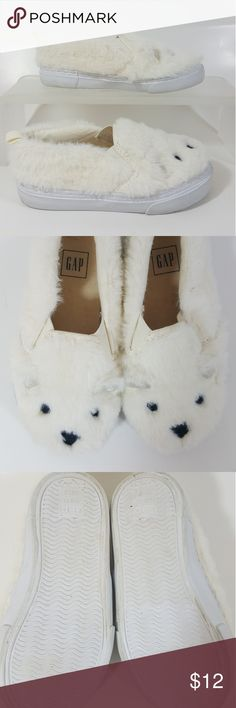 Gap Furry Bear Sneaker Brand: Gap  Detail: Cream with Bear design Size: 8 History: Only worn once or twice Known Defects: none GAP Shoes Sneakers