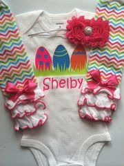 Baby Girl Easter Outfit Sizes NB-24 month- Personalized Easter Egg