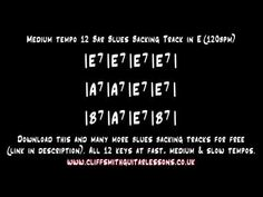 Recorder improvisation on B, A, G, E and D: E - Medium Tempo 12 Bar Blues Backing Track - YouTube