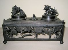 Antique Chinese Bronze Exquisite Inkwell