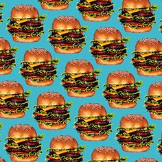 Double Cheeseburger 2 Pattern