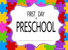 first day of school coloring pages first day of preschool sign coloring page - First Day Of Preschool Coloring Pages
