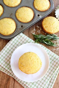 Cheddar Rosemary Corn Muffins from www.twopeasandtheirpod.com These simple corn muffins go great with any meal!