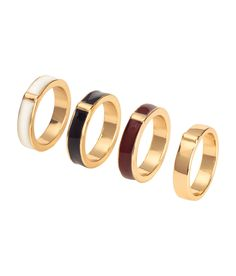 Check this out! Metal rings. Three painted and one in a solid color. - Visit hm.com to see more.