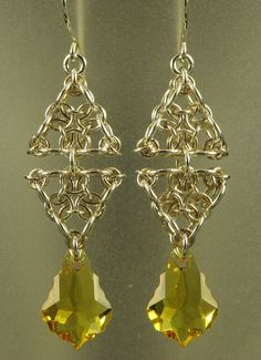 Triangle Earrings by Lorraine at MAIL  http://www.mailleartisans.org/gallery/gallerydisplay.php?key=5853