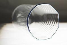 Octogonal Tumbler ~ Handblown Glass with Optical Twist