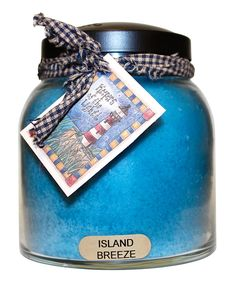 Island Breeze Homespun Ribbon 34-Oz. Papa Jar Candle
