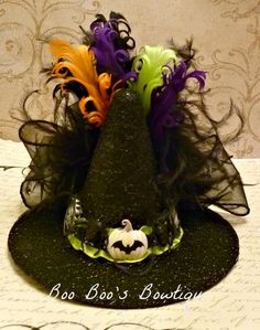 Mini Witch Hat Fascinator -Witches Hat, Witch Hat, Halloween Hat, Halloween Witch Costume, GIrl, Baby, Woman,