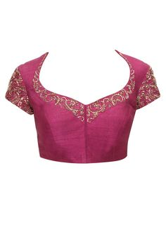Plum embroidered blouse available only at Pernia's Pop-Up Shop.
