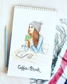 Fashion illustration sketches inspiration pencil for 2019 Girl Drawing Sketches, Girly Drawings, Cool Art Drawings, Pencil Art Drawings, Drawing Ideas, Pencil Sketches Of Girls, Pencil Drawing Inspiration, Winter Drawings, Pencil Sketching