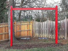 These free swing set plans include step-by-step directions, diagrams, and color photos to help you build a swing set for your backyard.