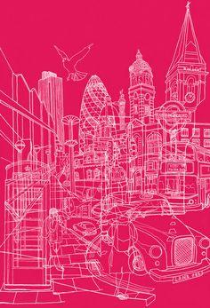 London in hot pink! #art #london #morepinkbda
