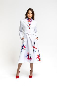 How To Look Better, That Look, A Line Cut, Timeless Elegance, Silk Ribbon, Abstract Pattern, Ribbons, Coats For Women, Spring Summer