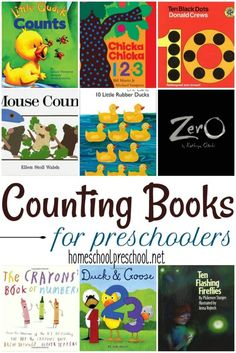 No early learning environment is complete without a wide variety of counting books for preschoolers. Here's a great list to get your collection started. via Homeschool Preschool Source by hopefulathome Math Books, Preschool Books, Preschool Learning, Kindergarten Math, Early Learning, Preschool Activities, Books For Preschoolers, Math Literature, Preschool Prep