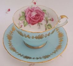 Aynsley England Bone China 1940s Floral Interior by extrasprinkles, $24.99