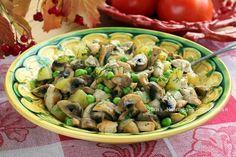 Салат с жареными гриабми