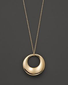 Disc Pendant in 14 Kt. Yellow Gold | Bloomingdale's