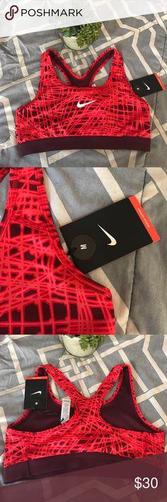 Nike Pro Sports Bra Sz Med New with tags- Nike Pro Red sports bra. Nike Intimates & Sleepwear Bras