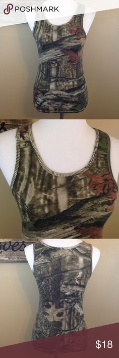 Camo tank top Camouflage rubbed tank top. Breakup infinity. Mossy Oak Tops Tank Tops
