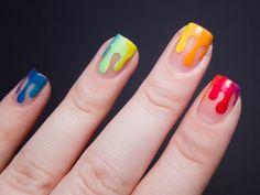 Trippy Drippy | Chalkboard Nails | Nail Art Blog