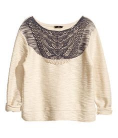 Jumper With A Lace Print £24.99