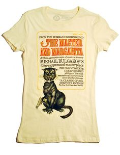 Book covers on t-shirts: what's not to love?  Now if only they would do some Dostoevsky... [and yes, I own this shirt]...