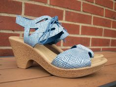 Gerberas Sandal in Blue Leather from Spring Step Available at Mar-Lou Shoes Spring Step, Women's Sandals, Espadrilles, Leather, Blue, Shoes, Fashion, Espadrilles Outfit, Moda