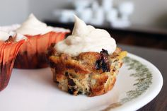 OMG - My favorite - Bread Pudding Cucpakes with Cinnamon Cream Cheese Icing.