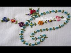 Basic Hand Embroidery Stitches. part (1) - YouTube