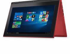 "Dell 11.6"" Touchscreen 2-in-1 Laptop with Intel Pentium Processor N3700 4GB Memory 128GB SSD Red"
