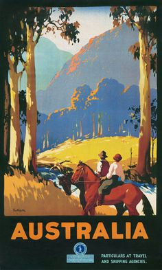 1930 Australia Tallest Trees in the British Empire Vintage Travel Poster 20x30