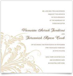 Flat Square Wedding Invitations - Antique Filigree | MagnetStreet  from: http://www.magnetstreet.com/details/market/517/productId/27955#