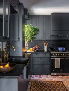 For every celebrity crazed person out there these kitchens are stunning. For every style, there is a beautiful celebrity kitchen for inspiration. Kitchen Tiles, Kitchen Flooring, Kitchen Dining, Kitchen Decor, Tile Flooring, Kitchen Colors, Bright Kitchens, Black Kitchens, Dream Kitchens