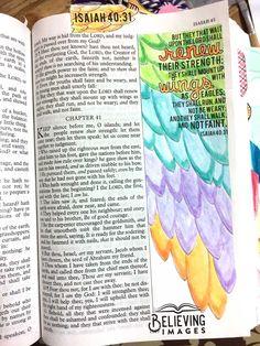 Bible Journaling Bible Verse Art Bible Verse Print great for faith journals Art Journal Wings, Eagles, Soar Faint Not Isaiah Bible Doodling, Bible Drawing, Bible Journal, Study Journal, Journal Prompts, Isaiah 40 31, Bible Notes, Bible Verse Art, Alcohol Markers