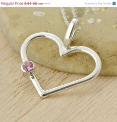 Fall Sale Birthstone Heart Pendant  by TheJewelryGirlsPlace, $35.96