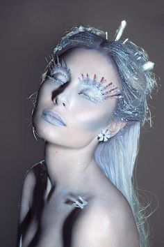 Ice Queen // Halloween makeup & hair ideas (via @beautylish)