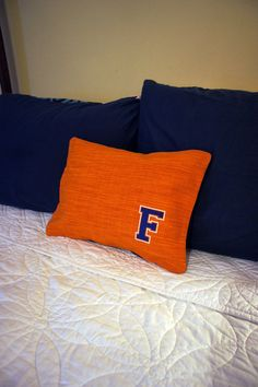 Gator Decorator Orange Fabric 12 X 16 Pillow with by GatorMade, $30.00