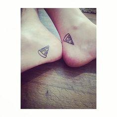 Pizza tattoo | matching tattoos | couple tattoos | pizza | tattoo inspo | tattoo ideas