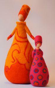 Vrouwen - Wolinhout Needle Felted, Nuno Felting, Diy Laine, Diy Tree Topper, Wool Applique Quilts, Felt Angel, Marionette, Felt Pictures, Felt Fairy