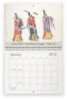 Plains Indian Ledger Art | View Product: 2016 PILA Ledger Art Wall Calendar