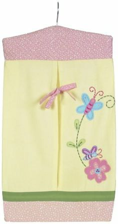 Sumersault Charlotte Diaper Stacker, Yellow Completes the theme of the nursery. Great storage. Easy to use. Appliqued design. Machine washable, gentle warm cycle, tumble dry low.  #Sumersault #Baby_Product