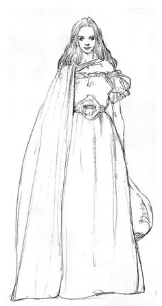 Fantasy Characters, Female Characters, Human Face Sketch, Larp, Star Wars Padme, Star Wars Concept Art, Star Wars Costumes, Art Archive, Star Wars Episodes